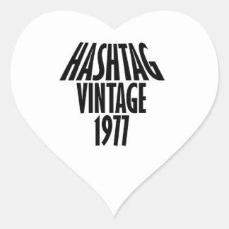 vintage 1977 designs heart sticker