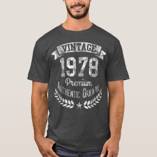 Vintage 1978 Retro 40th Birthday Premium Original T Shirt