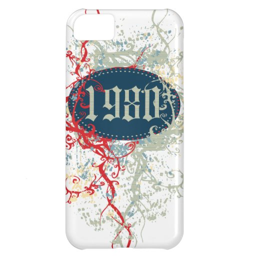 Vintage 1980 Birthday Year Cover For iPhone 5C