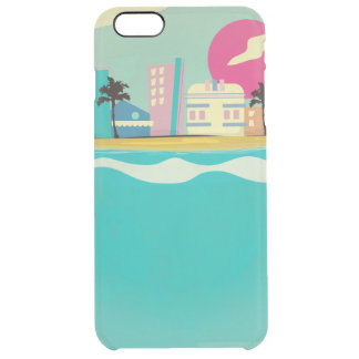 Vintage 1980s Miami Poster Clear iPhone 6 Plus Case