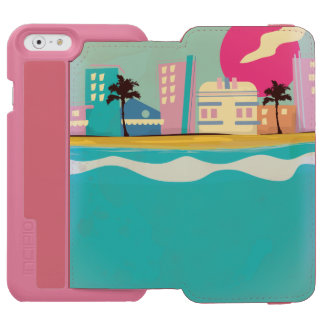 Vintage 1980s Miami Poster Incipio Watson™ iPhone 6 Wallet Case