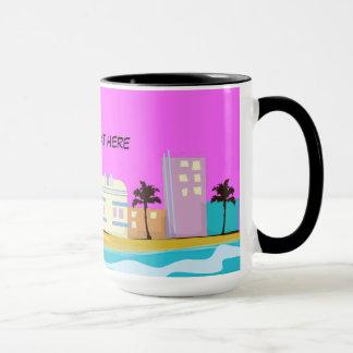 Vintage 1980s Miami Poster Mug