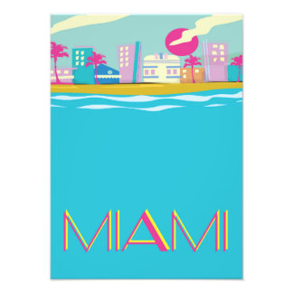 Vintage 1980s Miami Travel poster Photo Art