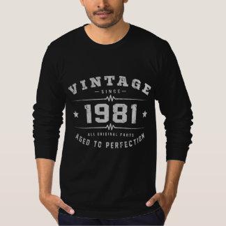 Vintage 1981 Birthday T-Shirt