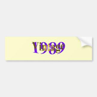 Vintage 1989 bumper sticker