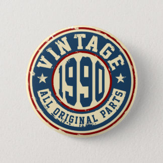 Vintage 1990 All Original Parts 6 Cm Round Badge