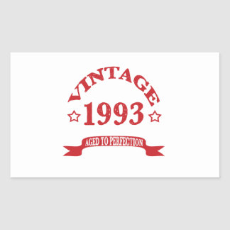 Vintage 1993 Aged to Paerfection Rectangular Stickers
