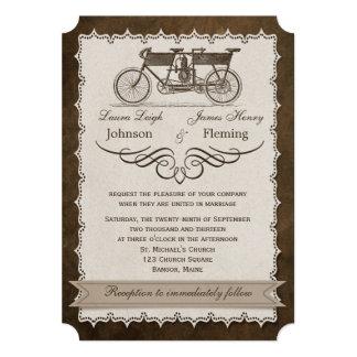 Vintage 19th Century Tandem Bicycle Wedding Invite