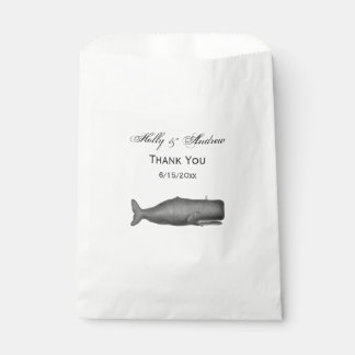 Vintage 19th Century Whale Drawing N Favour Bag