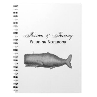 Vintage 19th Century Whale Drawing Notebook