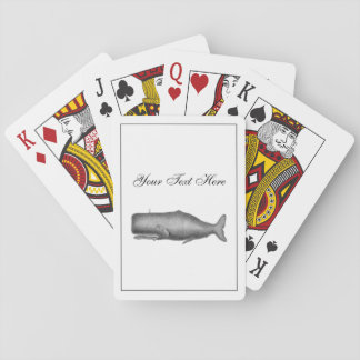 Vintage 19th Century Whale Drawing Poker Deck