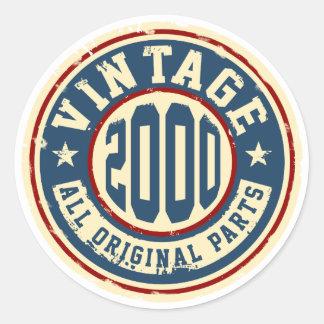 Vintage 2000 All Original Parts Classic Round Sticker