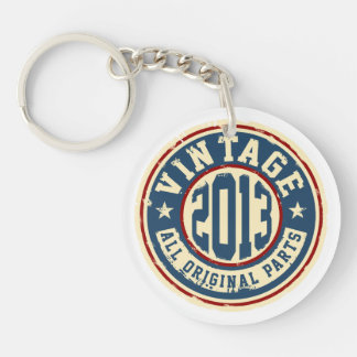 Vintage 2013 All Original Parts Single-Sided Round Acrylic Key Ring