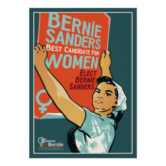"Vintage 20"" x 28"" Poster Women for Bernie"