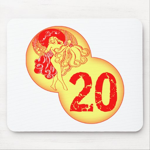 Vintage 20th Birthday Gifts Mouse Pads
