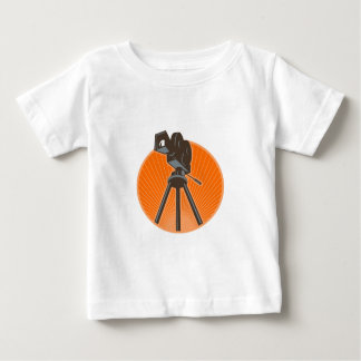 Vintage 35mm Motion Picture Camera Retro Baby T-Shirt