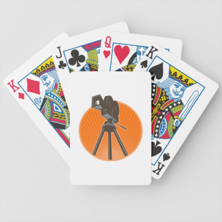 Vintage 35mm Motion Picture Camera Retro Bicycle Playing Cards