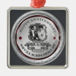 Vintage 40th Anniversary ID195 Silver-Colored Square Decoration
