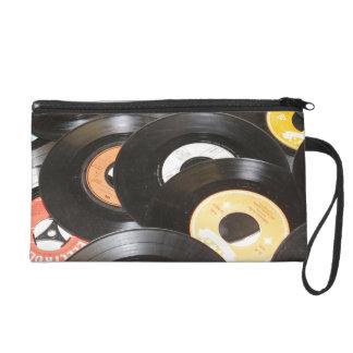 Vintage 45rpm Records Wristlet Purses