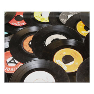 Vintage 45rpm Records Poster