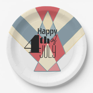 Vintage 4th of July Banner | Party Plates 9 Inch Paper Plate