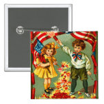 Vintage 4th of July Firecrackers 15 Cm Square Badge
