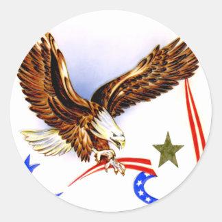 Vintage 4th of July Round Sticker