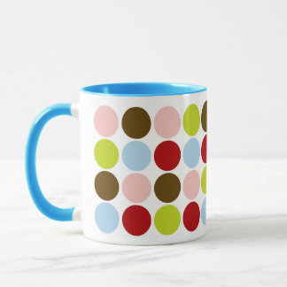 Vintage 50s Big Dots Designer Coffee Mug