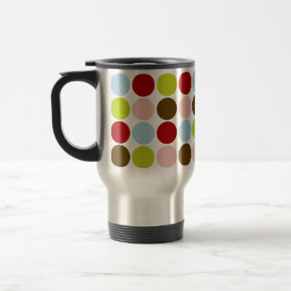 Vintage 50s Big Dots Designer Travel Mug