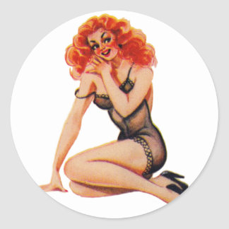 Vintage 50s Pin Up Pinup Girl Kitsch Gina Stickers