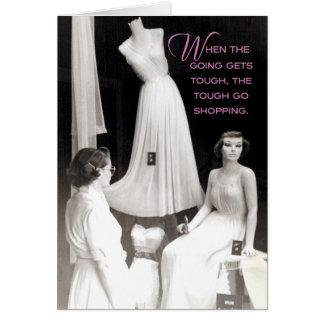 Vintage 50's Shopper: You Got This! Encouragement Card