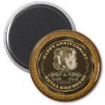 Vintage 50th Anniversary 6 Cm Round Magnet