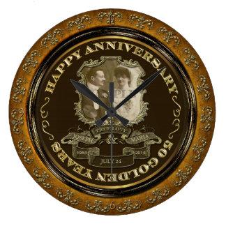 Vintage 50th Anniversary ID195 Large Clock
