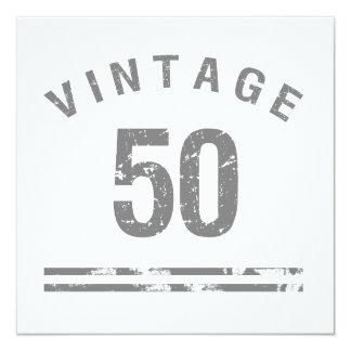 Vintage 50th Birthday Card