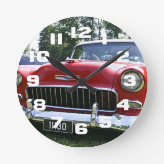 Vintage 56 Chevy Medium Round Clock
