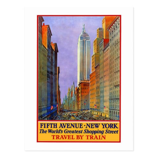 Vintage, 5th Ave New York Postcards