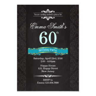 Vintage 60th Birthday Invitation