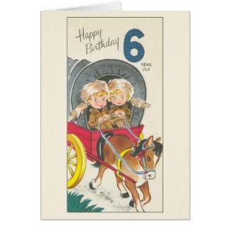 Vintage 6 Year Old Birthday Card