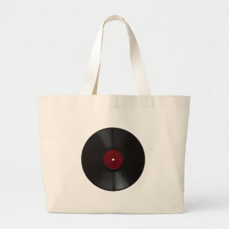 Vintage 78 rpm record transparent PNG Large Tote Bag