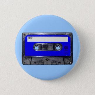 Vintage 80's Blue Label Cassette 6 Cm Round Badge