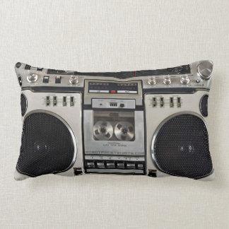 Vintage 80s Boombox Ghettoblaster Lumbar Pillow