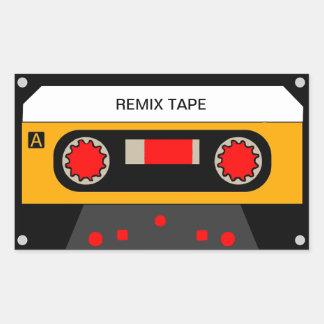 Vintage 80's Cassette Rectangular Sticker