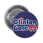 Vintage 90s Clinton Gore 1992 Buttons