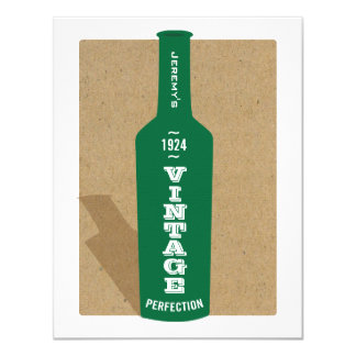 Vintage 90th Birthday Wine Party Invitation