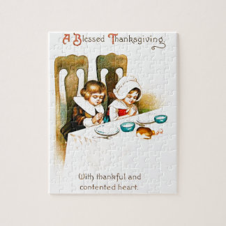 Vintage A Blessed Thanksgiving Jigsaw Puzzle