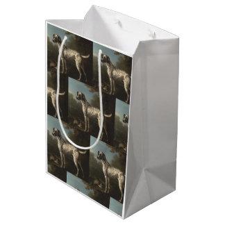 Vintage A Grey Spotted Hound John Wootton Medium Gift Bag