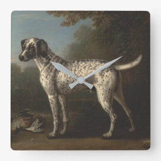 Vintage A Grey Spotted Hound John Wootton Square Wall Clock