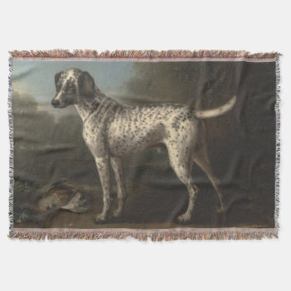 Vintage A Grey Spotted Hound John Wootton Throw Blanket