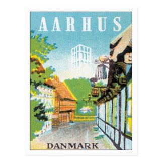 Vintage Aarhus Denmark Postcard