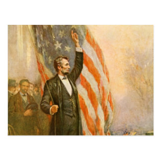 Vintage Abe Lincoln American President Independent Postcard